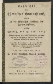 Geschichte des Thornschen Gymnasiums