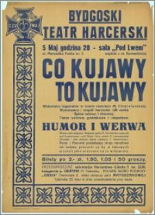 """[Afisz] : [Inc.:] Widowisko regionalne """"Co Kujawy to Kujawy"""" w trzech częściach M. Chmielarskiej"""