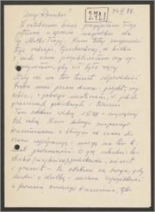 List Stanisława Kiałki z 24 listopada 1977 roku