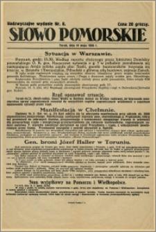 Słowo Pomorskie - Nadzwyczajne wydanie, 1926.05.14, Nr 8