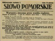 Słowo Pomorskie - Nadzwyczajne wydanie, 1926.05.13, Nr 5