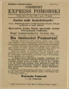 Codzienny Express Pomorski - Wydanie nadzwyczajne, 15.05.2916 r.
