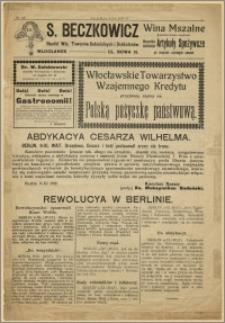 Słowo Polskie, 09.11.1918 r.