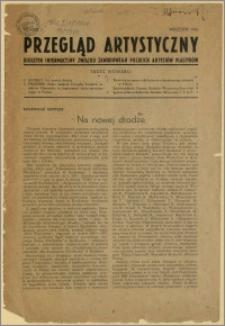 Przegląd Artystyczny - Biuletyn Informacyjny Związku Zawodowego Polskich Artystów Plastyków, nr 1, wrzesień 1945