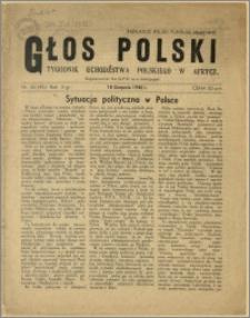Głos Polski - Tygodnik uchodźstwa polskiego w Afryce, rok II, nr 32, 18.08.1946 r.
