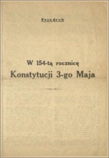 W 154-tą rocznicę Konstytucji 3-go Maja [Przedruk] : M.p. 20.IV.1945 r.