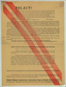 Polacy! [Inc.:] Dziesięć lat mija, gdy naród, jak jeden mąż, zwarł się ramię przy ramieniu i pod wodzą Józefa Piłsudskiego otrzymał wiekopomnej chwały zwycięstwo nad zaborczym najeźdźcą, wdzierającym się już do wrót stolicy [...] : Warszawa, dnia 26 lipca 1930