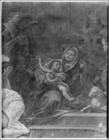 Kraków. Wnętrze kościoła. Obraz w nawie bocznej-fragment