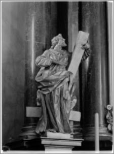 Kraków. Kościół misjonarzy Nawrócenia św. Pawła. Ołtarz główny-fragment. Rzeźba św. Piotra