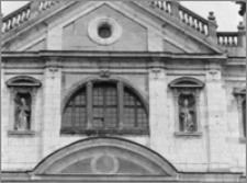Kraków. Kościół kamedułów Wniebowzięcia NMP na Bielanach. Elewacja zachodnia-fragment