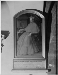 Kraków. Klasztor Franciszkanów. Portret kard. Jerzego Radziwiłła we wschodnim ramieniu krużganków