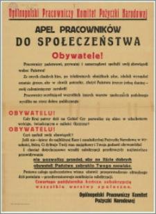 [Afisz] : Ogólnopolski Pracowniczy Komitet Pożyczki Narodowej [Inc.:] Apel pracowników do społeczeństwa. Obywatele!