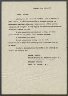 List Sabiny Korejwo z dnia 9 września 1971 roku