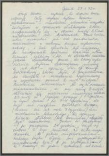 List Sabiny Korejwo z dnia 27 stycznia 1972 roku