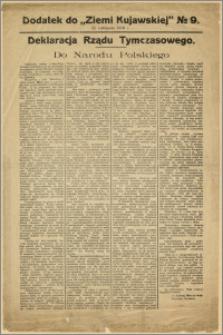 [Obwieszczenie] : Deklaracja Rządu Tymczasowego Do Narodu Polskiego [Inc.:] Obejmując władzę w Republice Polskiej poczuwamy się do obowiązku [...] 22 listopada 1918 r.