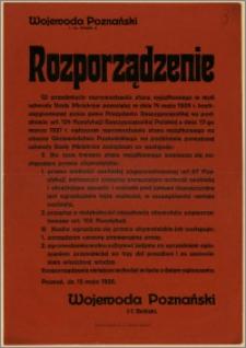 Rozporządzenie : Poznań, 15 maja 1926 r.