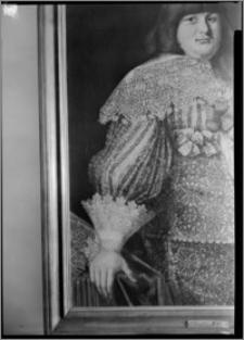 Warszawa. Wilanów. Muzeum Pałacu Króla Jana III. Fragment portretu ks. Władysława Dominika Zasławskiego autorstwa Bartłomieja Strobla