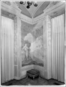 Warszawa. Wilanów. Muzeum Pałacu Jana III. Fragment wnętrza Gabinetu al Fresco
