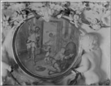 """Warszawa. Wilanów. Muzeum Pałacu Jana III. Fragment wnętrza. Obraz """"Łapanie roju"""""""