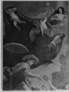 Warszawa. Wilanów. Muzeum Pałacu Jana III. Fragment wnętrz, sypialnia króla