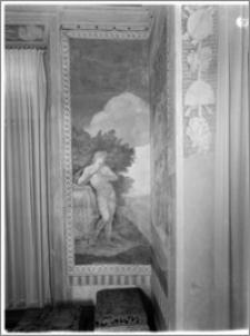 Warszawa. Wilanów. Muzeum Pałacu Jana III. Fragment wnętrza Gabinetu al Fresco. Fresk Jerzego Eleutera Siemiginowskiego (Szymowicza)