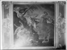 """Warszawa. Wilanów. Muzeum Pałacu Jana III. Wnętrze. Plafon """"Zima"""" autorstwa Jerzego Eleutera Siemiginowskiego (Szymanowicza)"""