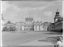 Warszawa. Wilanów. Muzeum Pałacu Jana III, widok na Korpus Główny od strony zachodniej