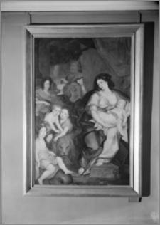 """Warszawa. Wilanów. Muzeum Pałacu Jana III. Portret """"Marii Kazimiery z dziećmi"""" autorstwa Jerzego Eleutera Siemiginowskiego (Szymanowicza)"""