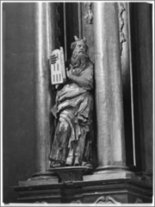 Rzeszów. Kościół oo. Bernardynów. Bazylika Wniebowzięcia Najświętszej Marii Panny. Fragment ołtarza bocznego