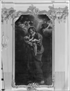 Warszawa. Kościół Wizytek pw. Opieki Św. Józefa Oblubieńca Niepokalanej Bogurodzicy Maryi. Ołtarz boczny z obrazem Św. Józefa