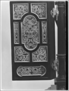 Warszawa. Klasztor Wizytek. Tabernakulum w dolnej kaplicy. Emalia na wewnętrznej stronie drzwi