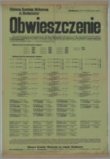 [Afisz] : [Inc.:] Obwieszczenie. Bydgoszcz, dnia 30 listopada 1933 r.