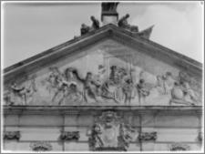 Warszawa. Pałac Krasińskich. Tympanon elewacji ogrodowej - fragment