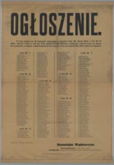 [Afisz] : [Inc.:] Ogłoszenie. Bydgoszcz, dnia 28-go września 1925 r.