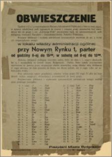Obwieszczenie w sprawie przyjmowania deklaracji wierności Narodowi i Demokratycznemu Państwu Polskiemu od osób wpisanych na niemiecką listę narodową