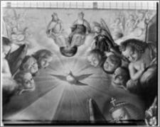 Radzyń Chełmiński. Kościół parafialny pw. Św. Anny. Wnętrze. Ołtarz główny – fragment obrazu w zwieńczeniu