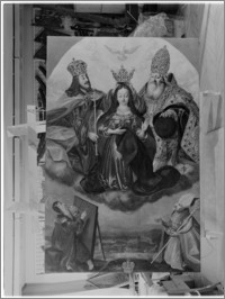 Radzyń Chełmiński. Kościół parafialny pw. Św. Anny. Wnętrze. Obraz z ołtarza głównego