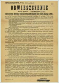 Obwieszczenie Wojewody Pomorskiego o powszechnym obowiązku wojskowym mężczyzn stawienia się do poboru głównego : Toruń - 15 kwienia 1938 r. Władysław Raczkiewicz