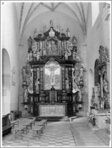 Strzelno. Bazylika św. Trójcy i Najświętszej Marii Panny. Ołtarz boczny w transepcie północnym