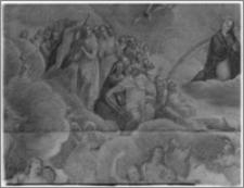 """Świecie (woj. bydgoskie). Kościół parafialny św. Andrzeja Boboli. Obraz """"Sąd Ostateczny""""-fragment"""