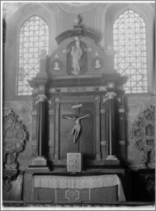 Łysa Góra (Święty Krzyż). Bazylika mniejsza pw. Trójcy Świętej i sanktuarium Relikwii Drzewa Krzyża Świętego. Kaplica Oleśnickich. Ołtarz