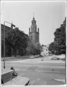 Stargard Szczeciński. Kościół parafialny [ob. Kolegiata NMP Królowej Świata]. Widok od strony wschodniej