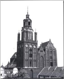 Stargard Szczeciński. Kościół parafialny [ob. Kolegiata NMP Królowej Świata]. Widok od strony południowo-zachodniej
