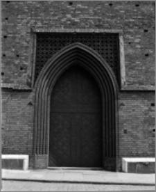 Stargard Szczeciński. Kościół parafialny [ob. Kolegiata NMP Królowej Świata]. Portal główny (zachodni)