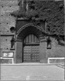 Stargard Szczeciński. Kościół parafialny [ob. Kolegiata NMP Królowej Świata]. Portal południowy