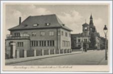 Lauenburg i. Pom. : Paradebrüke mit Reichsbank
