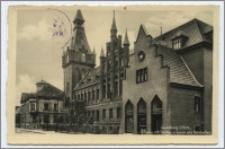 Lauenburg i. Pom. : Rathaus mit Stadtsparkasse und Ratskeller