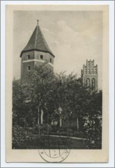 [Aus dem Blauen Ländchen : Lauenburg i. Pomm. Stadt und Kreis : Efeuturm und Jakobikirche