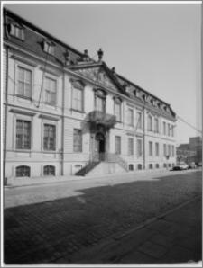 Szczecin. Pałac Stanów Sejmowych (siedziba Muzeum Narodowego). Widok na elewację zachodnią
