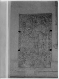 Szczecin. Zamek Książąt Pomorskich. Dziedziniec. Płyta nagrobna Barnima III Wielkiego (zm. 1368) księcia szczecińskiego